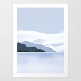 Calmness of Blue Art Print
