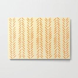 Herringbone Pattern in Autumn Colors Metal Print