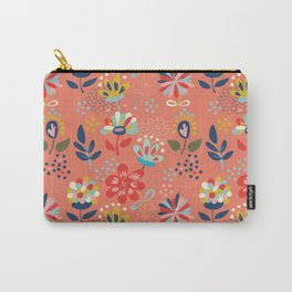 Pretty Floral Carry-All Pouch