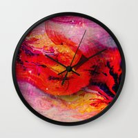 thrones Wall Clocks featuring Thrones by ECSTATIC