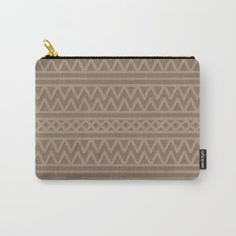 Pale Brown Aztec Style Carry-All Pouch