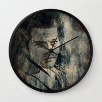 castiel Wall Clocks featuring Castiel by Sirenphotos