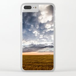After the Storm - Spacious Sky Over Field in West Texas Clear iPhone Case