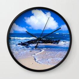 Hawaiian beach2 Wall Clock