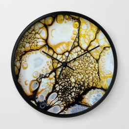 Black and White and Gold Allover Wall Clock