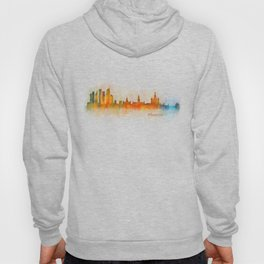 Moscow City Skyline art HQ v3 Hoody