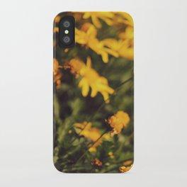 Sigue el camino de margaritas amarillas iPhone Case