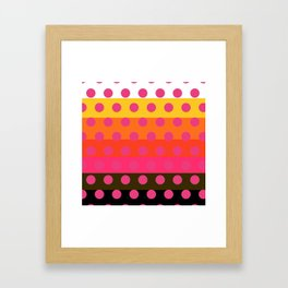 Earth and Summer Sky - Color Strips with Pink Dots Framed Art Print