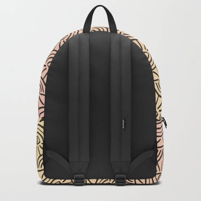 Rainbow Eyes Pink and Yellow Backpack
