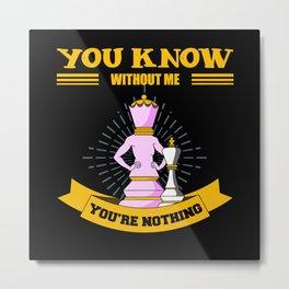 Chess, Chess Bishop, Chess Rook Metal Print