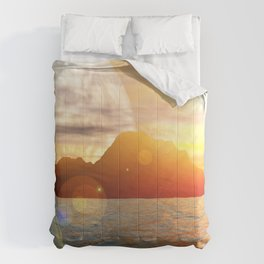 Sunny day on alien planet Comforters