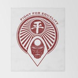 Legend of Korra- Amon - Fight for Equality Throw Blanket