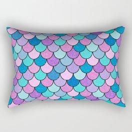 Sparkle Scales Rectangular Pillow