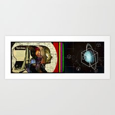 A straight shot to Uranus Art Print