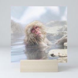 Snow Monkey Hot Springs Mini Art Print