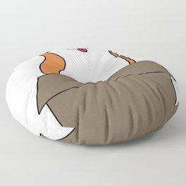 Corgi-gated Cardboard Floor Pillow