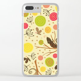 Ditsy tree lizards Clear iPhone Case