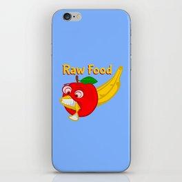 Raw Foods Food Fight iPhone Skin