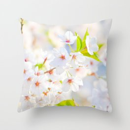 flower photography by Evelyn Throw Pillow