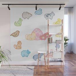 cute furuba fruits basket pattern Wall Mural