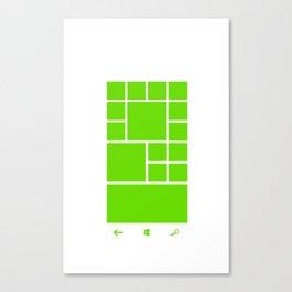 Windows Phone 8 Grid - Green Canvas Print