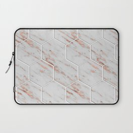 Rose gold honeycomb tiles Laptop Sleeve