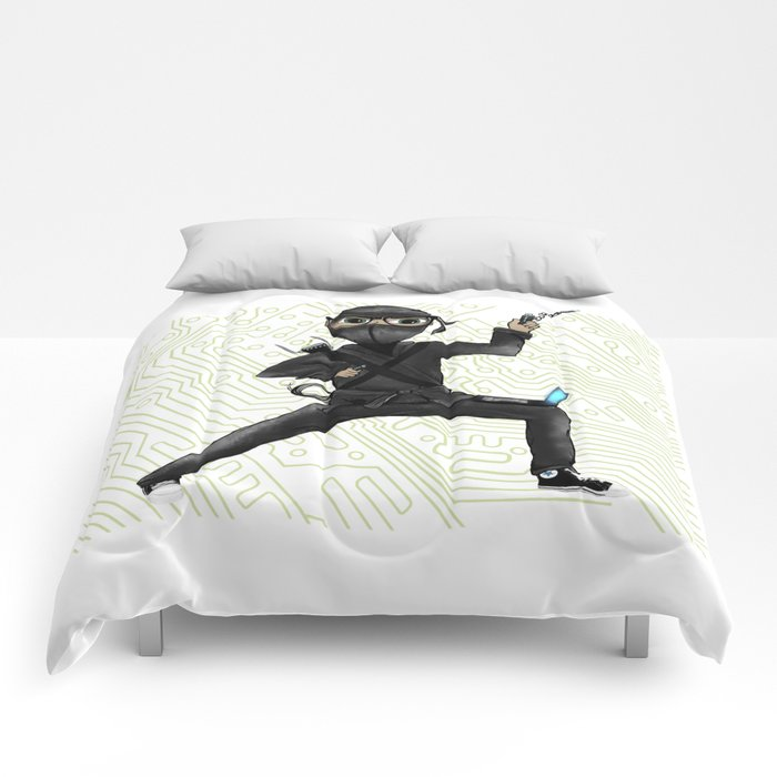 Cyber Ninja Comforters