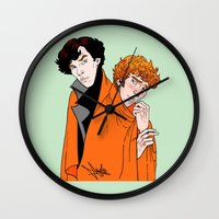 blankets Wall Clocks featuring Crash Landings and Shock Blankets by TheScienceofDepiction