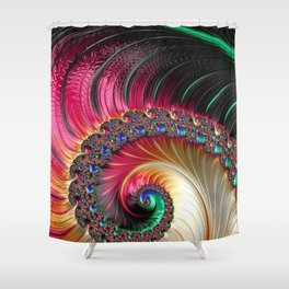 Electric Shell Shower Curtain