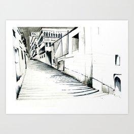 Maltese Steps Art Print