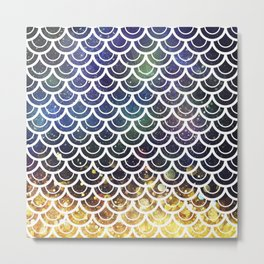 Mermaid Scales Deep Sea Sparkle Metal Print