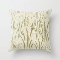grass Throw Pillows featuring Grass by Armin