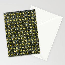 Elements of the Periodic Table Stationery Cards