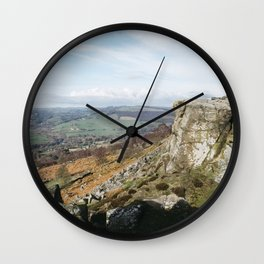 View from Curbar Edge. Derbyshire, UK. Wall Clock