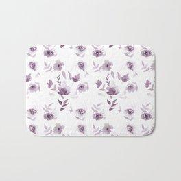 Violet Floral pattern Bath Mat
