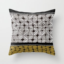BB-row Throw Pillow