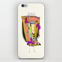 death cab for cutie iPhone & iPod Skins featuring Cutie by Ingrid Padilla
