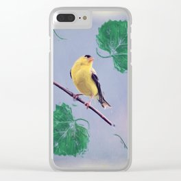 Goldfinch Cottage Chic Country Art Photo Art A355 Clear iPhone Case