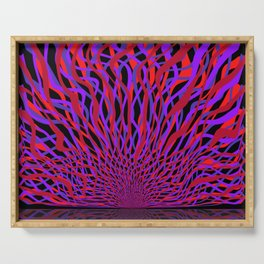 radial layers 16, sunrise Serving Tray