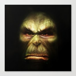 Orc face Canvas Print