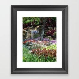 Waterfall Garden Framed Art Print