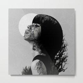 Black Velvet Metal Print