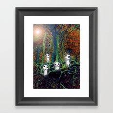 Kodama under the tree Framed Art Print