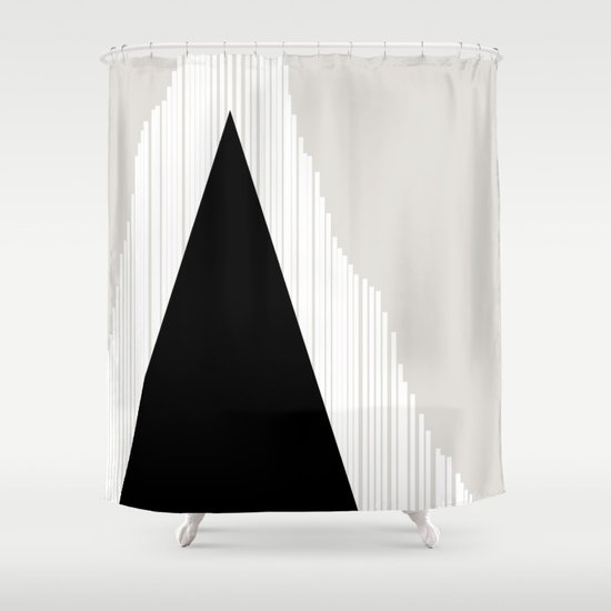 Abstract Mountain Shower Curtain