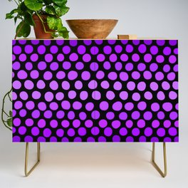 Violet Ombre Dots Credenza