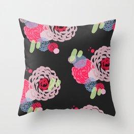 Brush roses Throw Pillow