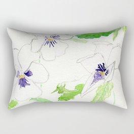 Snow Pansies Rectangular Pillow