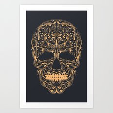 Skull ornament Art Print