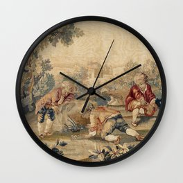 Aubusson  Antique French Tapestry Wall Clock