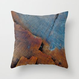 Colored Wood Throw Pillow